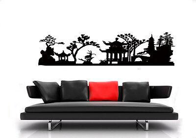 pegatina pared ASIA Árbol Jardín película de pared WST04 chino