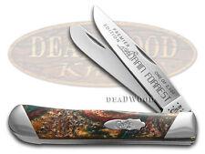 CASE XX Slant Series Rain Forrest Corelon Trapper 1/2500 Stainless Pocket Knife