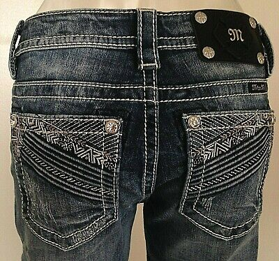 """NEW WITH TAG MISS ME JEANS 8757 SIGNATURE ANKLE SKINNY INSEAM 27/"""""""