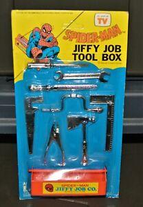 1970s Spider-man vintage Larami Jiffy Job Tool box Rack Toy Marvel moc Fleetwood