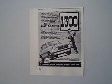 advertising Pubblicità 1967 FIAT ABARTH  1300