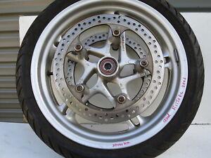 SILVER-FRONT-WHEEL-RIM-3-50-X-17-BMW-R-1150-RS-YEAR-2003-PART-NR-36312333465