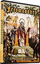 50 Freemasonry Books, Talleyrand Mason Rosicrucian Illuminati Scottish rite
