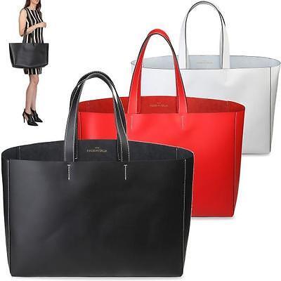 MADE IN ITALIA Borsa da donna Shopping Bag Grande Maxi in VERA PELLE Italy DD