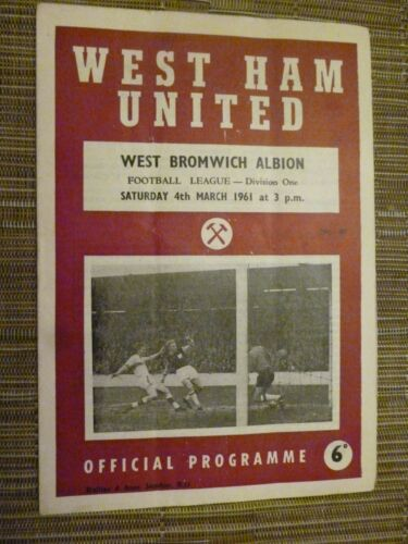 1960/61 Football League- WEST HAM UNITED v WEST BROMWICH ALBION - 4th March
