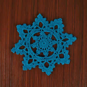 4Pcs-Lot-Blue-Vintage-Lace-Doilies-Hand-Crochet-Cotton-Doily-Snowflake-6inch