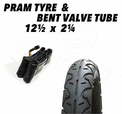 1 X Pram Tyre & Tube 12 1/2 X 2 1/4 (57-203) Pushchair Stroller Scooter