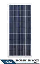 150W Solarmodul Polykristallin 12V - PHOTOVOLTAIK SOLARPANEL - Made in EU