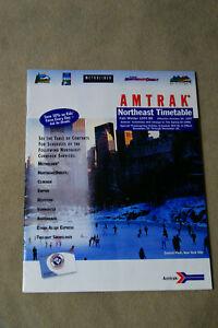 Amtrak-Northeast-Timetable-Fall-Winter-1997-98