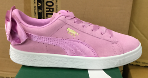 PUMA Suede Bow Jr GS Kid s Skateboarding Sneakers Orchid 367316 05 ... c8b831868
