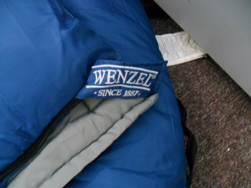 "Wenzel   Sleeping Bag Blue 30 Degree Camping Adult Size 33/"" x 75/"""