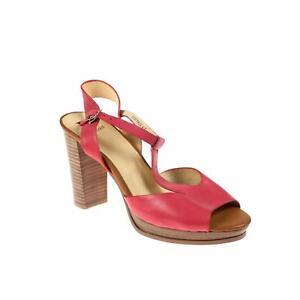 67945958f95583 Das Bild wird geladen Isabel-Licardi-Damen-Pumps-Leder-Rot
