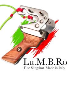 Fionda PROFESSIONALE - LUMBRO DAVID PRO - METALLO - Guinness World Record