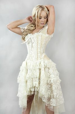 New Vintage Victorian Gothic Steampunk Evening Corset Burleska Dress Size 8 -18