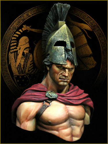 Young Miniatures Spartan at Thermopylae YH1824 1 10th Bust Unpainted kit