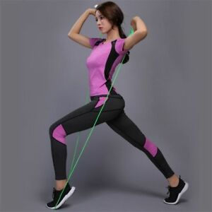 best loved 2018 shoes enjoy best price Details about Yoga Set Gym Fitness Clothes Shirt Pants Running Jogging  Workout Sports Suits