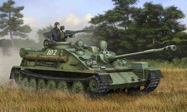 ASU-85 Airborne Self-Propelled Gun Mod. 1970 Tank 1 35 Plastic Model Kit