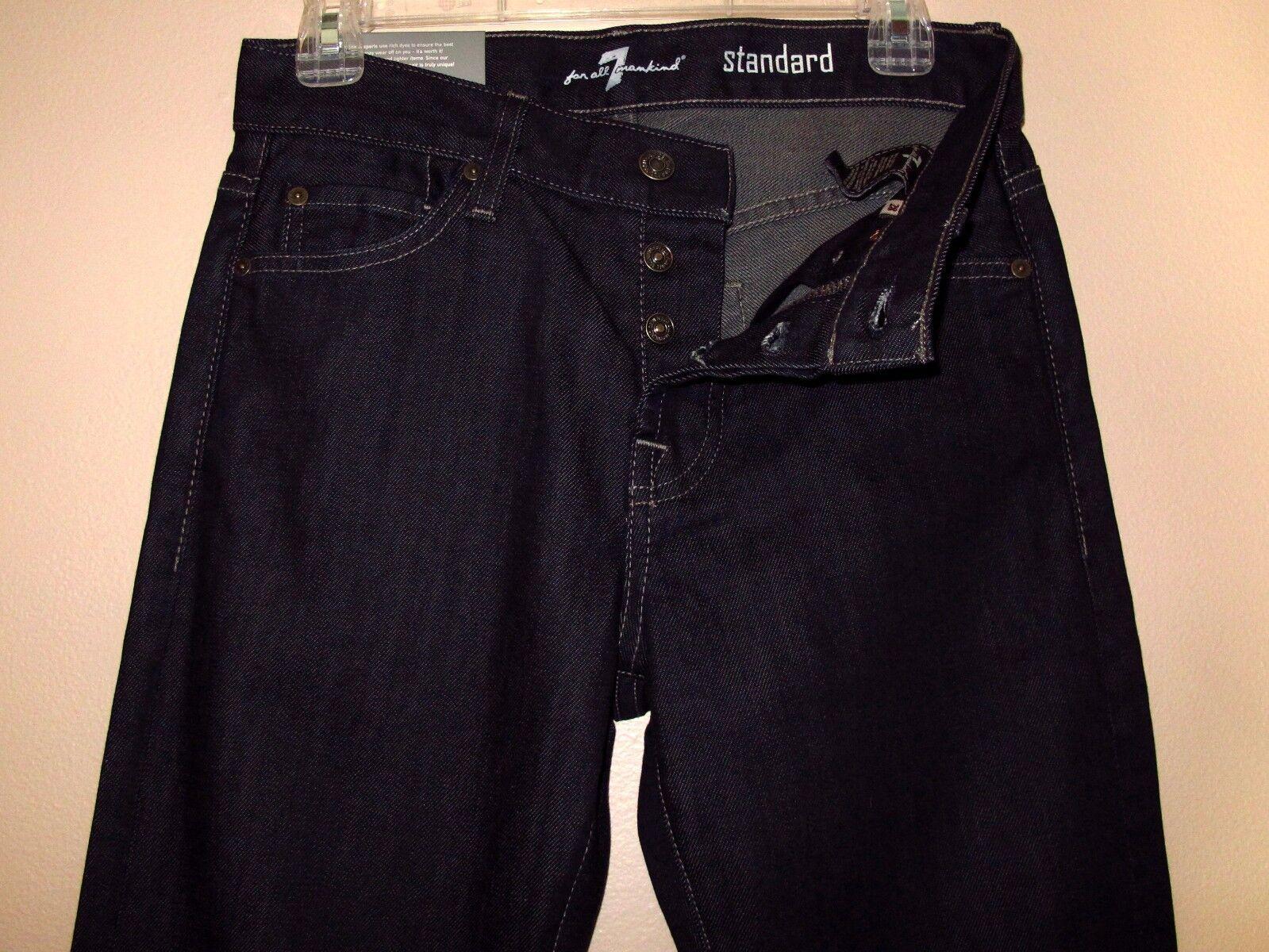 Men's Seven 7 For All Mankind  Standard Classic Straight Leg Jeans Dark 28