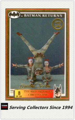 * Pelicula devoluciones de Batman dinámico 1992 Australia Tarjeta de oro No8 el triángulo rojo