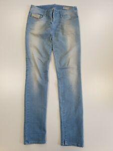 Gg629 Damen Diesel Grupee blau Stretch Slim Skinny Denim Jeans UK 8 w27 l32