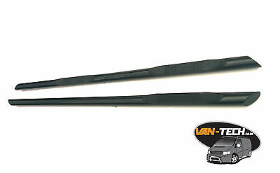 VW T5 Transporter Van Black 3 step slash cut side bars  SWB