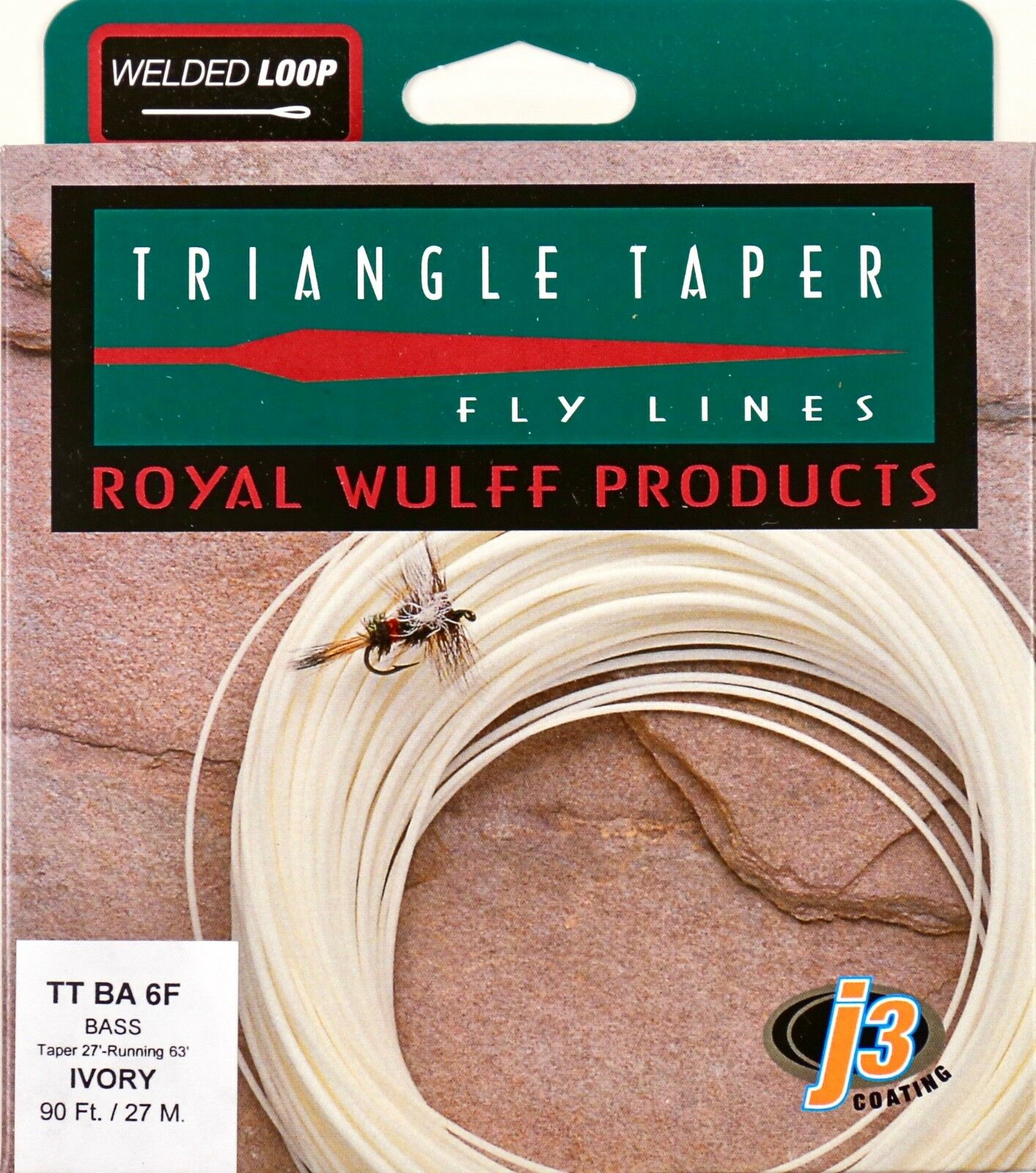 Royal Wulff Bass Triangle Taper 6 WT Fly Line Ivory Free Fast Shipping TTBA6F