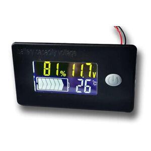 LCD Digitale 12V capacità della batteria Indicatore di visualizzazione stato monitor Misuratore