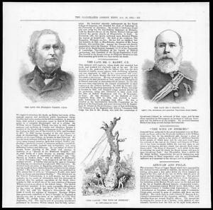 1884-Antique-Print-MILITARY-Charles-Manby-Sir-William-Erasmus-Wilson-55
