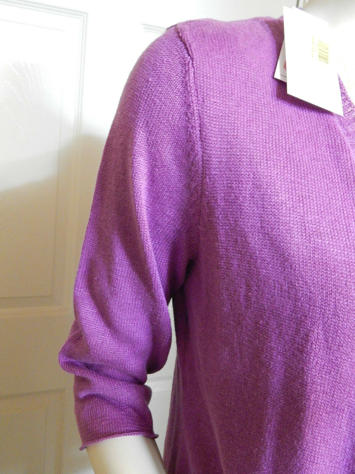 EILEEN FISHER Cardigan Sweater Sweater Sweater 100% Linen NEW WITH TAGS  3dceda