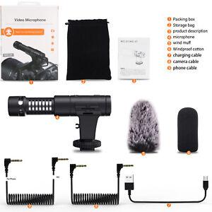 Mamen-Vlogging-Video-On-Camera-Microphone-DSLR-Smartphone-Mic-07Pro