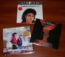"MICHAEL JACKSON 3x HOLLAND 7"" VINYL Lot SCREAM CHILDHOOD GONE TO SOON BAD PROMO"