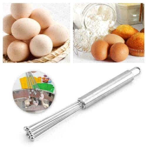 Egg Whisk Blender Stirrer Mixer Kitchen Tool Eggbeater Ball Steel with P9Z0 K8M6