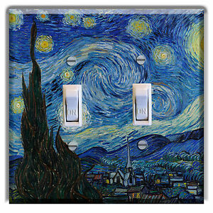 Image Is Loading Van Gogh Starry Night Light Switch Plate Cover