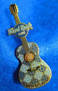 Orleans-Blu-Mosaico-Piastrella-Design-Mini-Chitarra-Serie-Hard-Rock-Cafe-Pin-Le