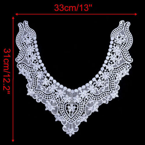Fashion Lace Embroidered Floral Neckline Trim Clothes Sewing Applique Crafts