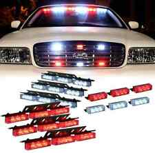 Red White LED Emergency Vehicle Grill Warning Police Officer Cops Fire Fighters