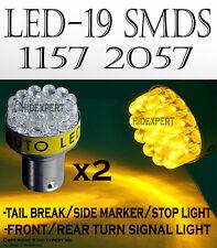 TMZ 2 pcs AMBER/Yellow 1157 2057 19-LED REAR TURN SIGNAL LIGHT BULBS Mj2ABL O899