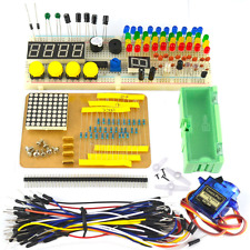 Electronic Parts Pack Learning Kit for Arduino Breadboard LED Resistor Capacitor