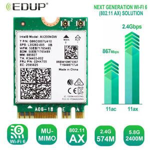 Intel Wifi 6 Ax200ngw Wireless 802 11ax 2 4gbps Wifi Bluetooth 5 0 Wireless Card Ebay