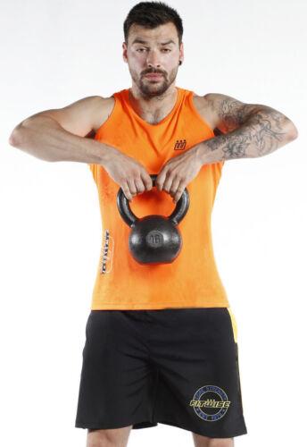 New Men/'s Top Vests  Sleeveless T-Shirt Summer Training Gym Shirts Orange