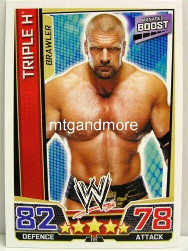 #119 Triple H Slam Attax Superstars