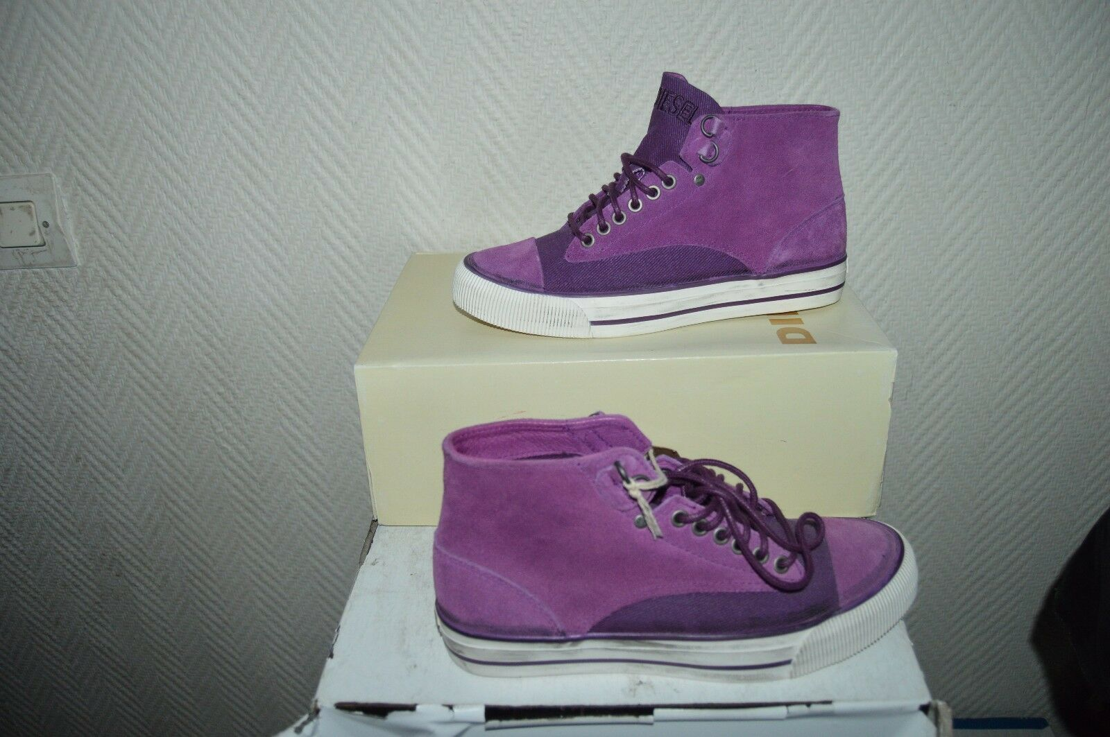 CHAUSSURE BASKET DIESEL CUIR CUIR CUIR TAILLE 41  NEUF SNEAKERS/SHOES/ZAPATOS/STIVALI b4a126