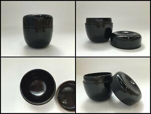 Japanese-Wooden-Incense-Case-Vintage-Black-Kogo-Tea-Ceremony-Lacquer-Ware-Z011