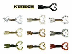 """keitech little spider 3/"""" scuppernong smallmouth largemouth bass lure  8 per pack"""