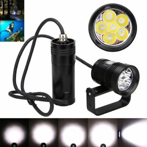 Bajo-el-agua-150m-DIV10-6x-XM-L2-LED-Buceo-Linterna-Antorcha-Luz-Soporte