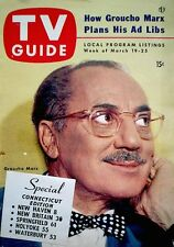 TV Guide 1954 Groucho Marx VTG V2N12 Perry Como Bishop Sheen Roller Derby Girls