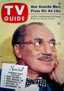 TV-Guide-1954-Groucho-Marx-VTG-V2N12-Perry-Como-Bishop-Sheen-Roller-Derby-Girls