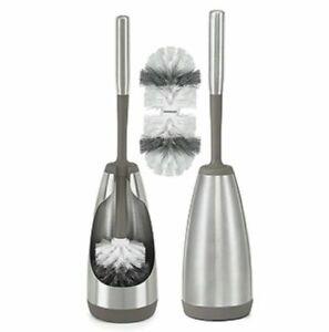 Neuf-Polder-Acier-Inoxydable-Toilette-Brosse-Caddie-2-Paquet-W-2-Additionnel