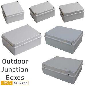 Weatherproof Ip56 Rated Junction Box Adaptable Outdoor Exterior Garden All Sizes Ebay