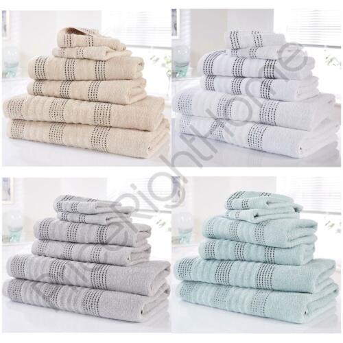 Spa Lot de 6 serviettes 100/% Coton Bain Set